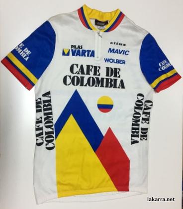 maillot 1986 cafe de colombia varta