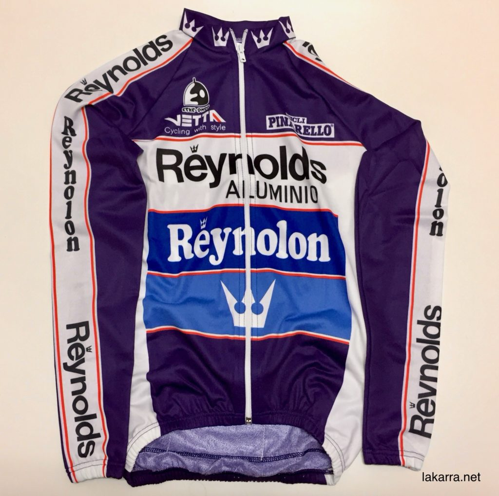 maillot 1988 reynolds reynolon pinarello